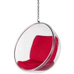 Fotel Bańska insp. BUBBLE czerwona poduszka D2