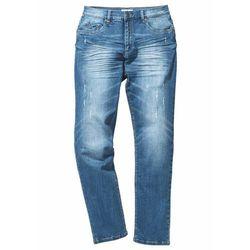 Dżinsy ze stretchem Slim Fit Straight bonprix niebieski denim