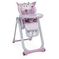 Krzesełka do karmienia, Krzese�ko do karmienia Polly 2 Start 4 ko�a Chicco + GRATIS (miss pink)
