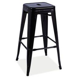 Hoker stołek barowy Signal LONG czarny mat LOFT