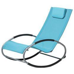 Krzesło ogrodowe niebieskie tekstylne bujane CAMPO