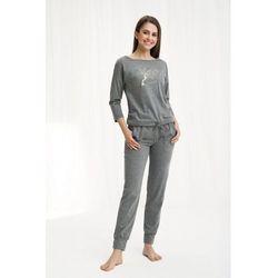Bawełniana piżama damska LUNA 460 szary