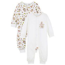 Śpiochy niemowlęce (2 pary), bawełna organiczna bonprix biel wełny + naturalny melanż