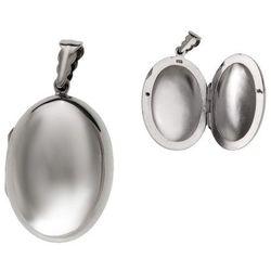 Elegancki otwierany srebrny owalny wisior sekretnik puzderko srebro 925 W0335