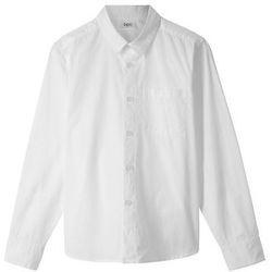 Koszula chłopięca z długim rękawem Slim Fit bonprix biały