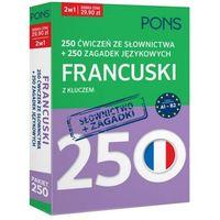 Książki do nauki języka, 250 ćwiczeń ze słownictwa Francuski +250 zagadek - Praca zbiorowa (opr. kartonowa)