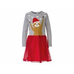 LUPILU® Sukienka z bawełny z tiulową spódniczką,