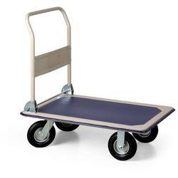 Składany wózek platformowy z kołami dętkowymi, 350 kg, platforma 910x610 mm