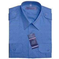 Koszula niebieska Służby Więziennej - długi rękaw - damska