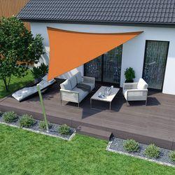 Żagiel przeciwsłoneczny, trójkątny, z tkaniny oddychającej, pomarańczowy, 360x360x360 cm