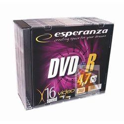 Pyty Esperanza DVD+R 4.7GB 16x - Slim - 10szt.