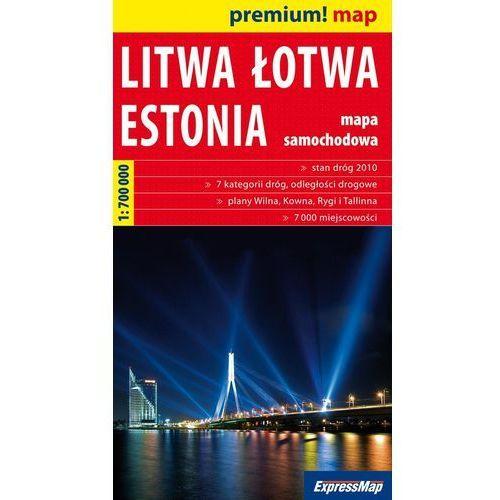 Mapy i atlasy turystyczne, Litwa Łotwa Estonia mapa 1:700 000 Expressmap (opr. broszurowa)