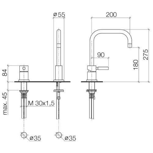 Baterie do kuchni, Bateria Dornbracht Meta.02 32800625-06