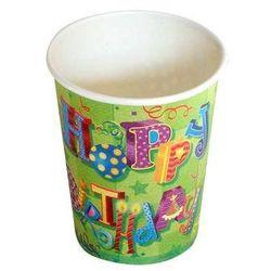 Kubeczki papierowe Happy Birthday II - 266 ml - 6 szt.