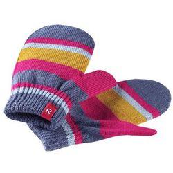 Rękawiczki jednopalczaste Reima Stig różowe w paski czyszczenie-30 (-34%)