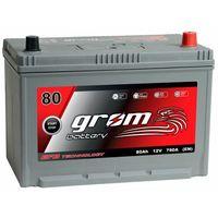 Akumulatory samochodowe, Akumulator GROM EFB START&STOP 80Ah 780A JAPAN Prawy Plus DTR