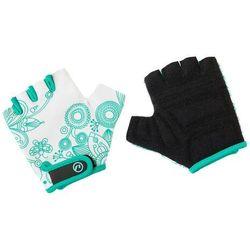Rękawiczki dziecięce Accent Flowers Kids biało-zielone XS