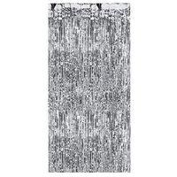 Zasłony, Kurtyna - zasłona na drzwi metaliczna srebrna - 2,4 m x 91 cm