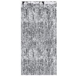 Kurtyna - zasłona na drzwi metaliczna srebrna - 2,4 m x 91 cm