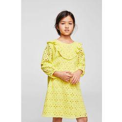 Mango Kids - Sukienka dziecięca Yellow 110-164 cm