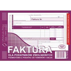 Faktura dla podat. zwol. podmiot. Michalczyk&Prokop 203-3E - A5 (oryginał+kopia)