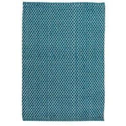 Dywan bawełniany ADEL niebieski 65 x 110 cm INSPIRE