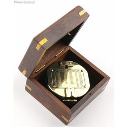 Kompas Brunton w pudełku z palisandru