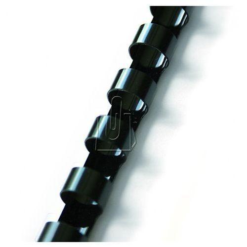 Grzbiety do bindownic, Grzbiety do bindowania plastikowe, czarne, 14 mm, 100 sztuk, oprawa do 125 kartek - Autoryzowana dystrybucja - Szybka dostawa