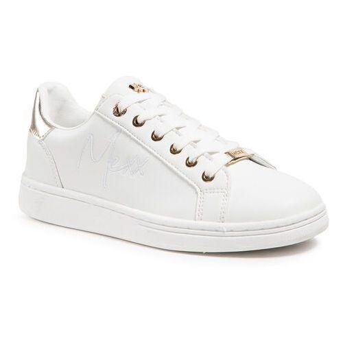 Damskie obuwie sportowe, Sneakersy MEXX - Glib MXQP0308_03W White/Gold 3009