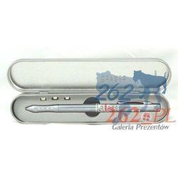 Długopis ze wskaźnikiem laserowym 4w1 w etui+GRAWER
