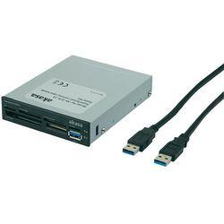Czytnik kart pamięci USB 3.0 do obudowy komputera, Akasa AK-ICR-13, 3,5'', all-in-one