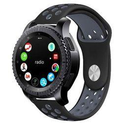 Sportowy pasek soft band do Samsung Gear S3 czarno-szary - Czarny ||Szary