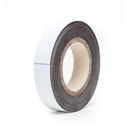 Magnetyczna tablica magazynowa, białe, rolka, wys. 30 mm, dł. rolki 10 m. Zapewn
