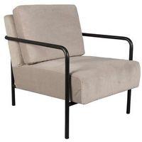 Fotele, Fotel z podłokietnikami X-BANG jasnoszary Zuiver