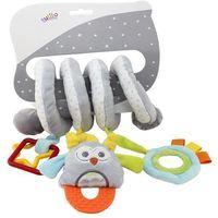 Zabawki do wózka, Sprężynka pluszowa Sowa z dodatkami 30 cm
