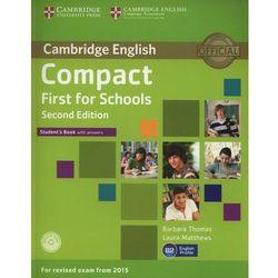 Compact First for Schools 2nd Edition. Podręcznik z Kluczem + CD (opr. miękka)