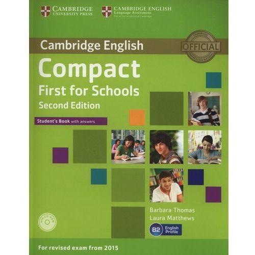 Językoznawstwo, Compact First for Schools 2nd Edition. Podręcznik z Kluczem + CD (opr. miękka)