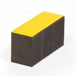 Magnetyczna tablica magazynowa, żółte, wys. x szer. 30x80 mm, opak. 100 szt. Zap