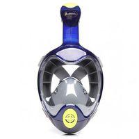 Maski, płetwy i fajki, Maska do nurkowania pełnotwarzowa Maxtech Pro Niebieska