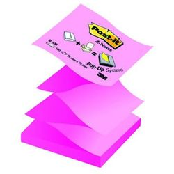 Bloczek samop. POST-IT® Z-Notes (R330NAP), 76x76mm, 100 kart., pastelowy/neonowy róż