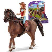 Figurki i postacie, Schleich figurki - rudowłosa Hannah i koń Cayenne
