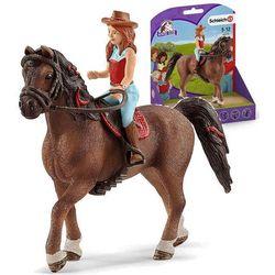 Schleich figurki - rudowłosa Hannah i koń Cayenne