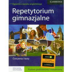 Repetytorium gimnazjalne ćwiczenia i testy poziom podstawowy i rozszerzony (opr. broszurowa)