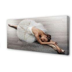 Obrazy na płótnie Kobieta biała sukienka baletnica