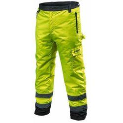 Spodnie robocze ocieplane żółte S NEO
