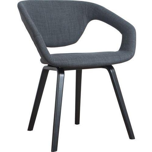 Fotele, Zuiver Fotel FLEXBACK czarny/ciemny szary 1200098