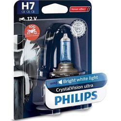 Żarówka Motocyklowa Philips® H7 CrystalVision Ultra Moto | 12V 55W PX26d