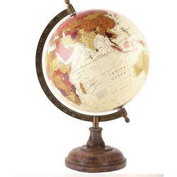 Globus na drewnianej podstawce - kolor czerwony