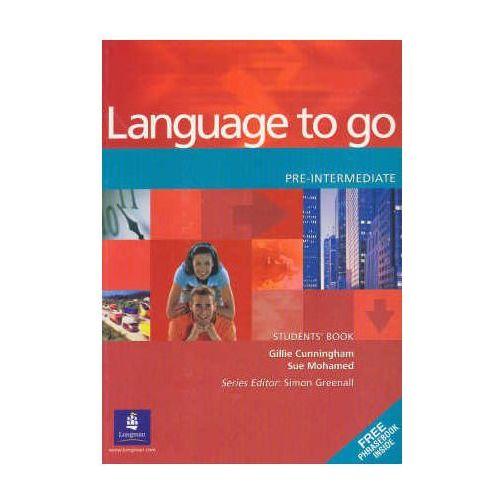 Książki do nauki języka, Language to go pre-intermediate Student&-8217;s Book (opr. miękka)
