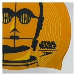 speedo Star Wars Slogan Print Czapka, gold/usa Charcoal/Citreon 2019 Czepki pływackie